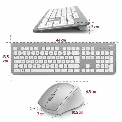 Zestaw klawiatura bezprzewodowa + myszka HAMA KMW-700